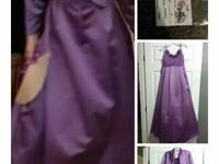 David's bridal junior bridesmaid dress wisteria color