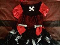 Little Girl's Pirate Halloween Costume size large, but