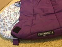 This listing is for a little woman's purple Kindercone