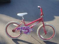 Little girls' bike all in Pink with white accents 20