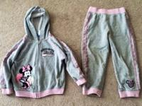 Girl's Minnie Mouse Sweat fit. Top and bottom.  Size