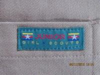 Official Junior Girl Scout pants, tan, size 7. Gently