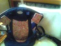 Baby girl infantino carrier denim with pink flowers