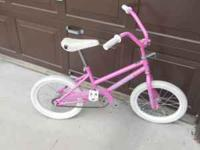 Hi! I have this girl's 16 inch Bicycle. It is in good
