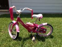 "Darling 16"" GT Lola bike in pink, excellent condition."