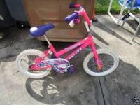 "We have a 16"" girls bike for sale. Does have some usage"