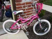 Girls Misty/Next pink and silver 16 inch bicycle with