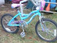 "Girls 18"" bicycle bike with training wheels - Purchased"