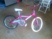 "Selling daughter's bike. 20"" with black and white"
