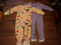 I am selling two girl 2T footed sleepers (brand name