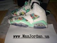 Online sale nike air jordna 6 white water jade girls