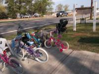 I have several bikes. 3 Girls 20in. bikes for $40.00 a