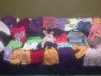 A lot of baby clothes that are like new. 38 items in