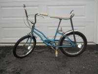 "20"" girls columbia banana bike in great shape $70.00 no"