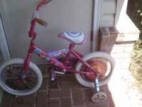 This bicycle is a very cute BARBIE bike for your little