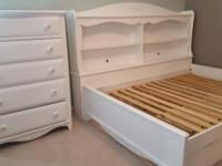 1) Bed - full size captain style frame (takes single