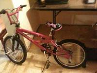 "Girls 20"" bicycle. Pink Mongoose like brand new has"