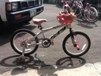 "I have for sale a gently used 18"" girls bike. It also"