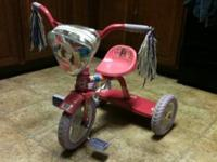 $15 each. Barbie tricycle. Metal frame. In good