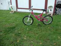 Pink, 20 inch, 6 speed bike In great condition.