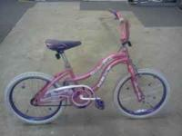 Girls slumber party bike Next brand, ridden very little