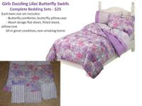 1 complete bedding set  Twin size set includes:       -