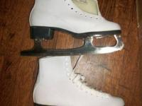 Girls CCM Figure Ice Skates Size 11 Made in Canada New