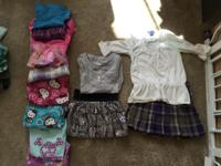 Girls clothing size 4: 1 skirt and top outfit, 1 skirt,