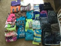 Girls Clothing Size 6: 10 pairs of jeans, 2 skirts, 15