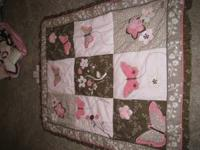 Mia Rose Girls Crib Bedding for sale! Hardly been used