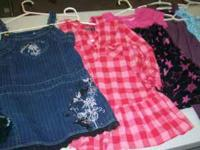 6 really pretty girls dresses size 6-8 and 2 black