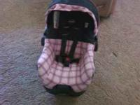 girls evenflo car seat with base. in great condition.