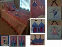 Twin size Fairy Princess Comforter, Sheet Set, Pillow