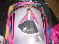 Jukebox girl price lowered to $10.00 Poodle skirt,