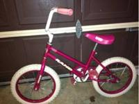 "Girls hot pink 15"" bike. Great condition! $45."