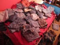 21 Pairs of girls jeans - Selling as a lot - Sizes Size