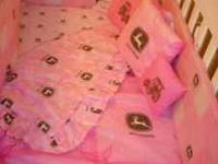 John Deere Girls Crib Set This is a one of a kind item