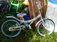 "Women silver and blue 20"" bicycle. It does have some"