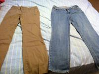1 st pic: Brown pants GAP size 6 jeans are St Johns Bay