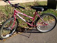 Great girls 5 speed Magna bike, pink in color.