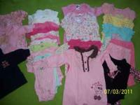 This adorable clothing for a newborn girl includes 1