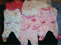 13 piece fall/winter newborn girls clothes lot, 8