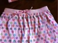 Girls old navy skort size lg 10-12 matching hooded zip