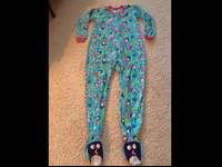 Ladies one piece flannel footed pajamas. Size 10-12.