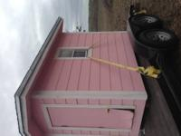 I have a pink and white play house. Very well built and