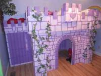 PRINCESS CASTLE BED LOFT -- MUST SEE This bed was