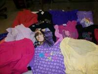 a mix of 19 girls shirts size 6-8. some long sleeve