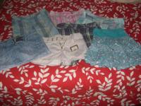 5 shorts and 2 skirts size 10. All for $25