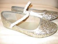 Super glittery and fun, these little flats are a great