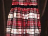 This beautiful red/white/black plaid Christmas dress is